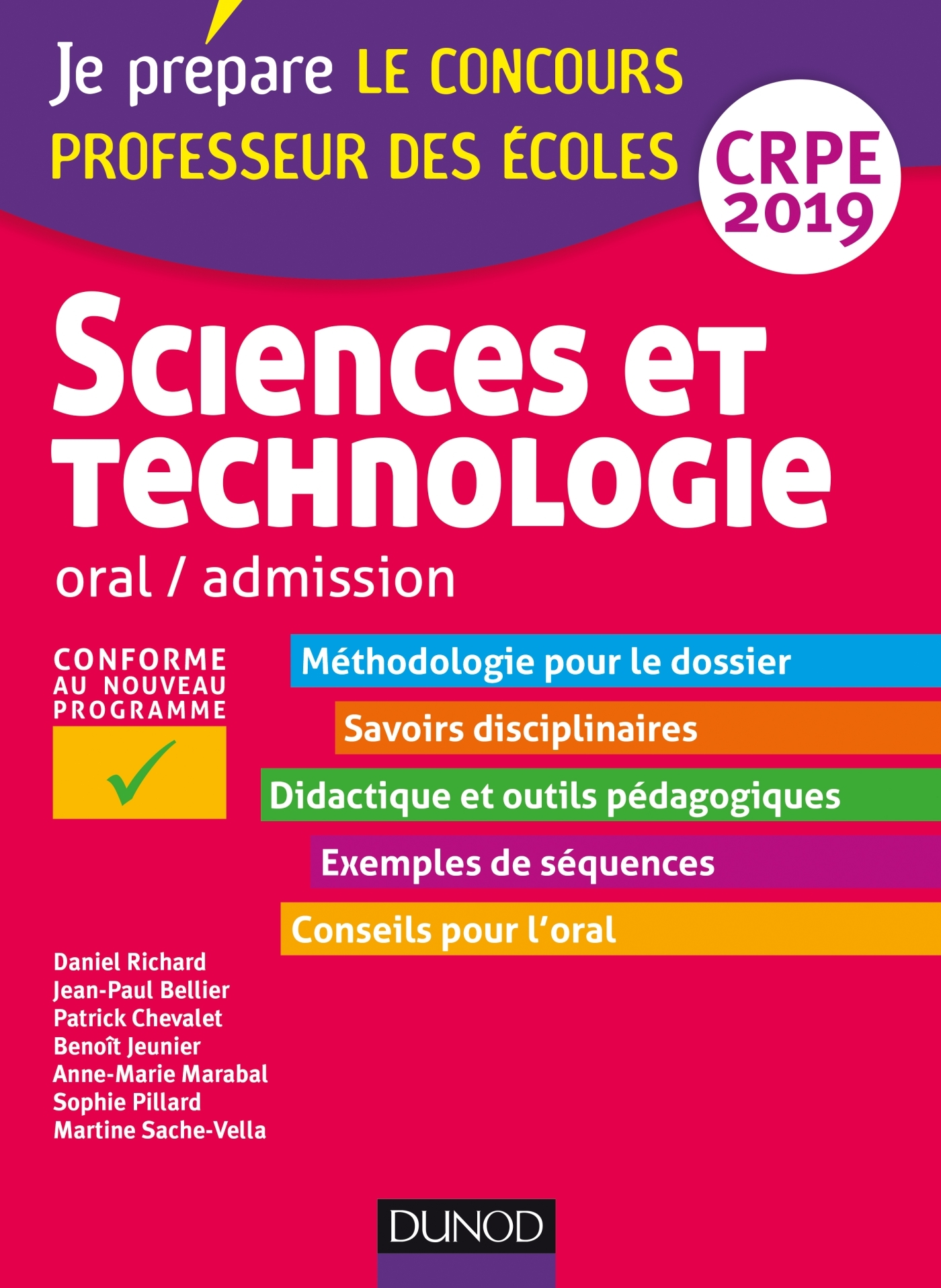 SCIENCES ET TECHNOLOGIE - ORAL, ADMISSION - CRPE 2019