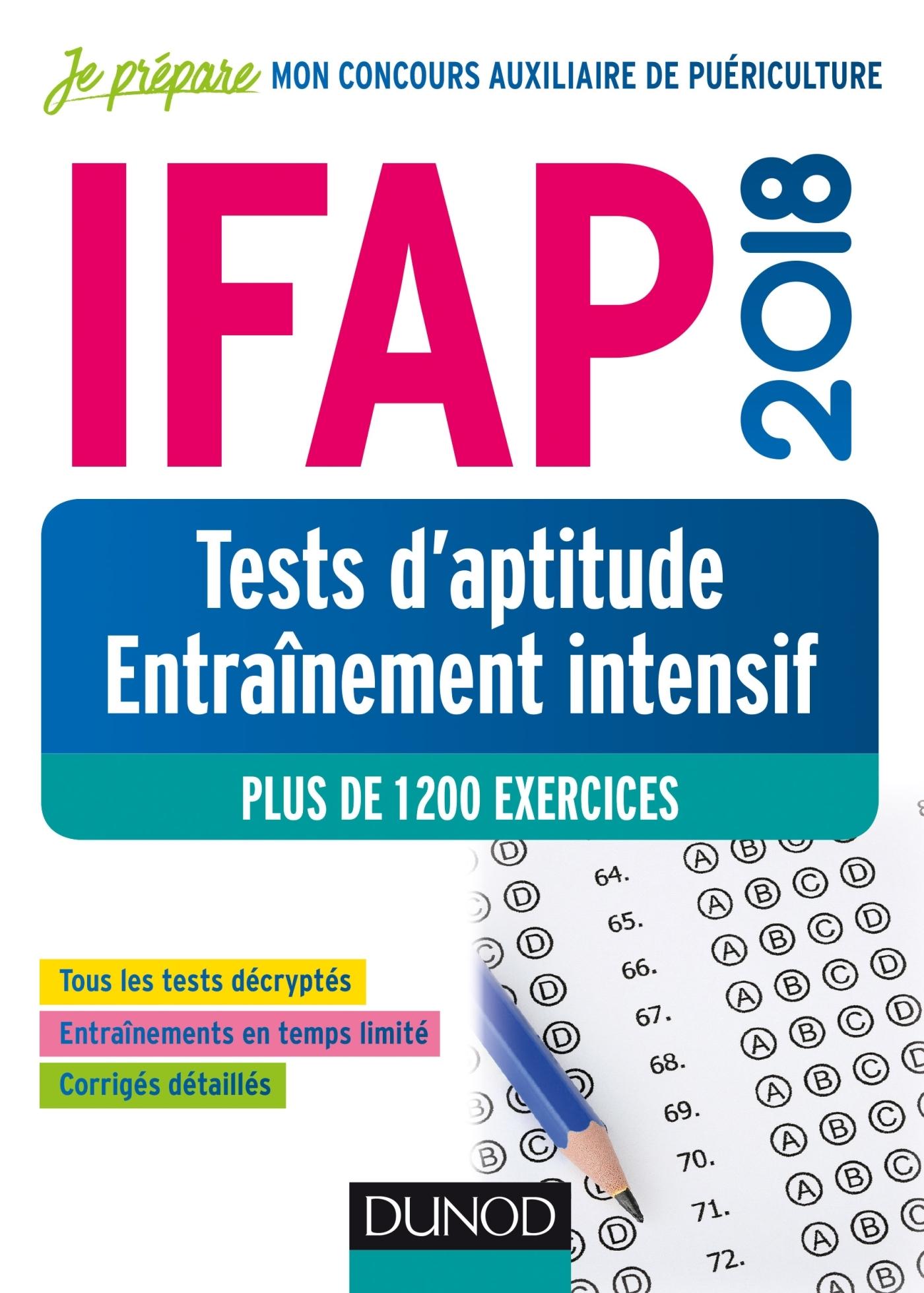 IFAP 2018 - TESTS D'APTITUDE - ENTRAINEMENT INTENSIF - PLUS DE 1200 EXERCICES
