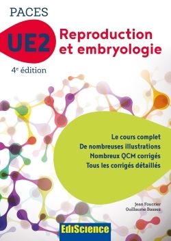 PACES UE2 REPRODUCTION ET EMBRYOLOGIE - 4E ED. - MANUEL, COURS + QCM CORRIGES