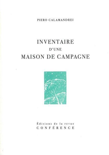 INVENTAIRE D'UNE MAISON DE CAMPAGNE