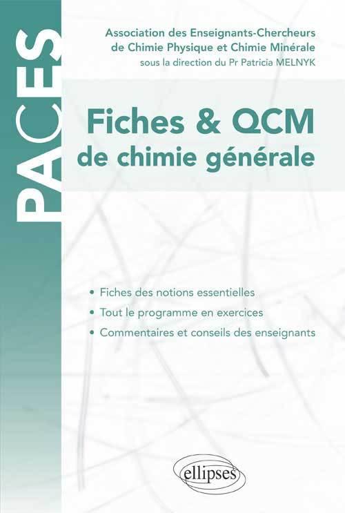 PACES FICHES ET QCM DE CHIMIE GENERALE UE1