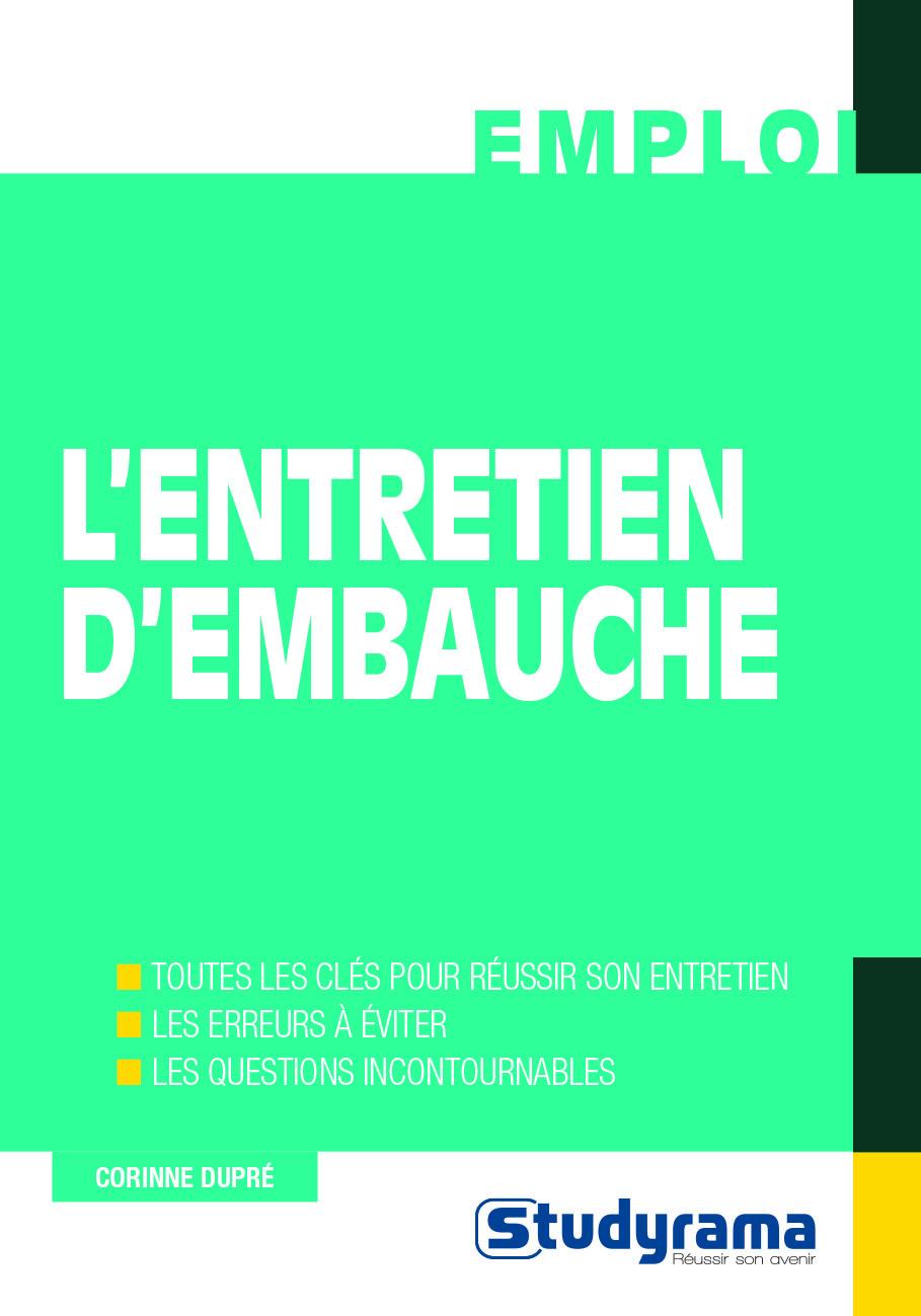 ENTRETIEN D'EMBAUCHE (L')