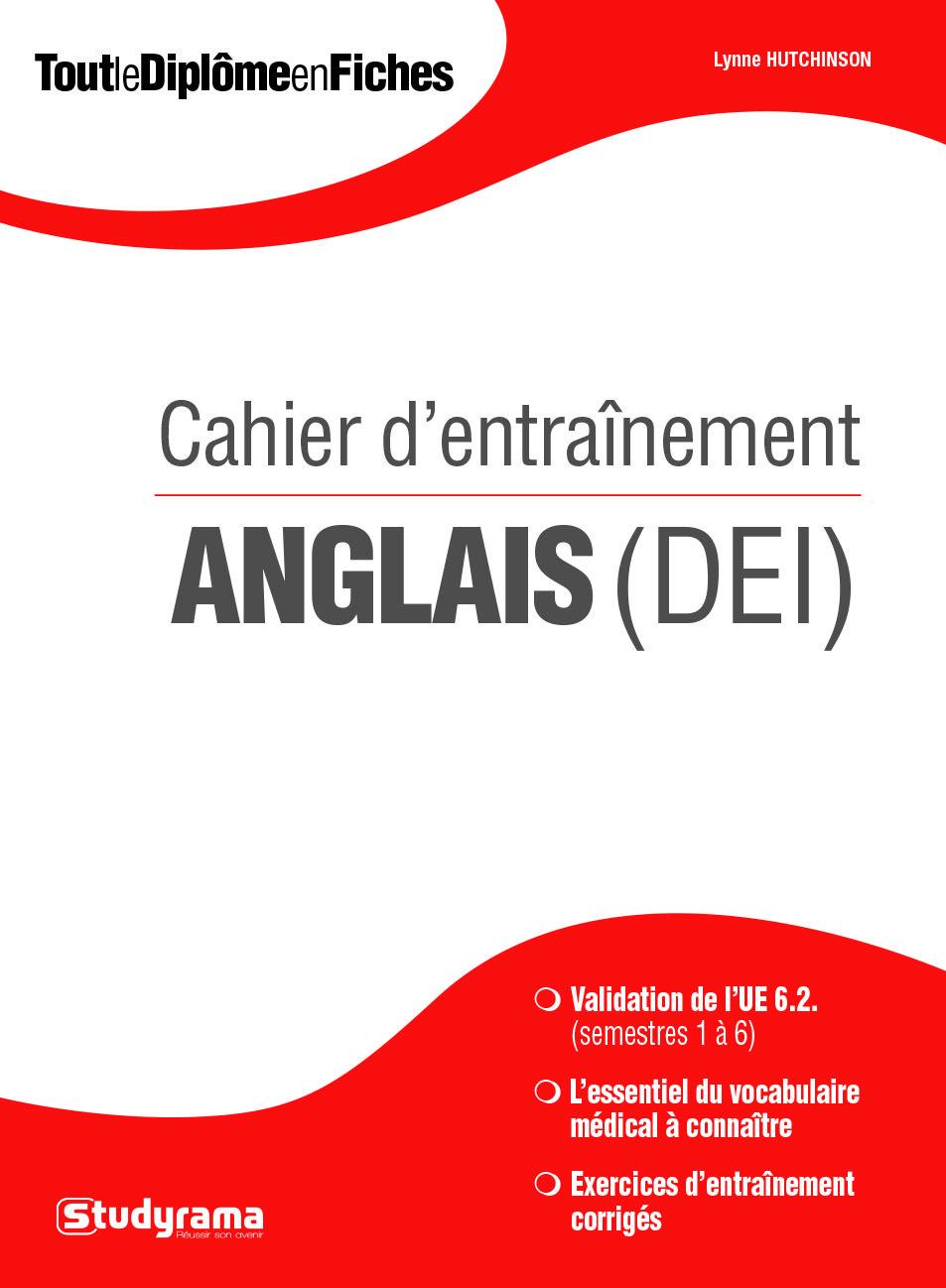 CAHIER D'ENTRAINEMENT ANGLAIS (DEI)