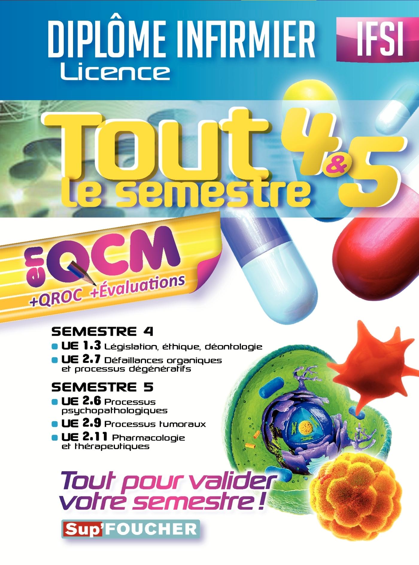 IFSI - TOUT LE SEMESTRE 4 & 5 EN QCM ET QROC - DIPLOME INFIRMIER