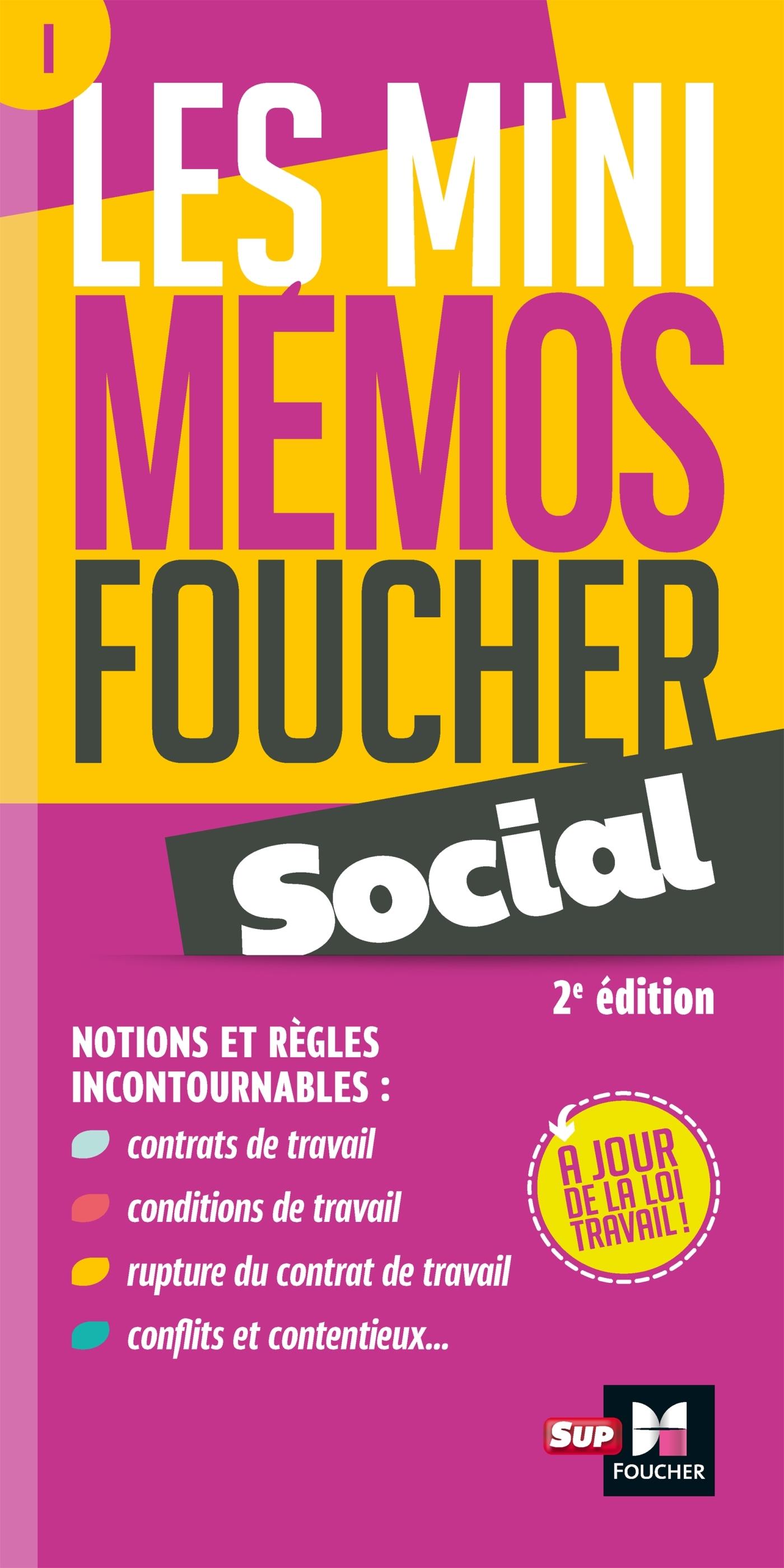 LES MINI MEMOS FOUCHER -  SOCIAL - 2E EDITION - REVISION