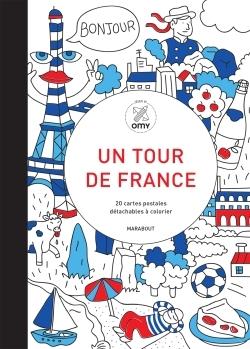 UN TOUR EN FRANCE- 20 CARTES POSTALES A COLORIER