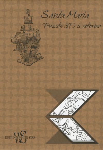 SANTA MARIA - PUZZLE 3D A COLORIER