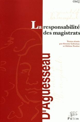 LA RESPONSABILITE DES MAGISTRATS