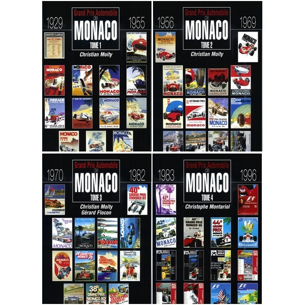 LE GRAND PRIX AUTOMOBILE DE MONACO 1929-1996 (COFFRET 4 VOLUMES)
