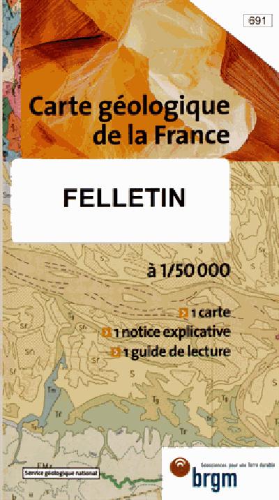 FELLETIN 1/50 000 CARTE GEOLOGIQUE 691