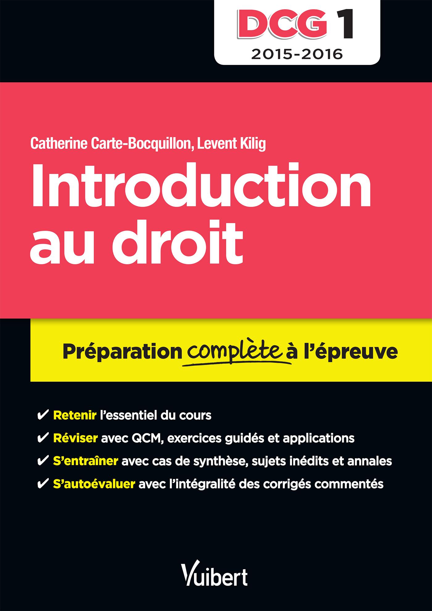 DCG 1 INTRODUCTION AU DROIT