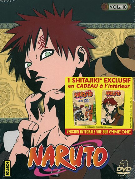 NARUTO - VOLUME 10 - COFFRET LUXE DIGIPACK 3 DVD