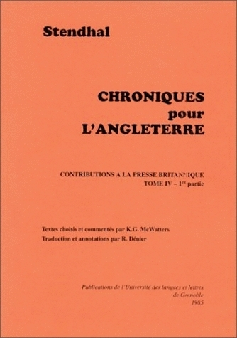 TOME IV : 1824-1825