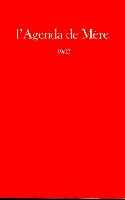 AGENDA DE MERE - TOME 3 - 1962- AE