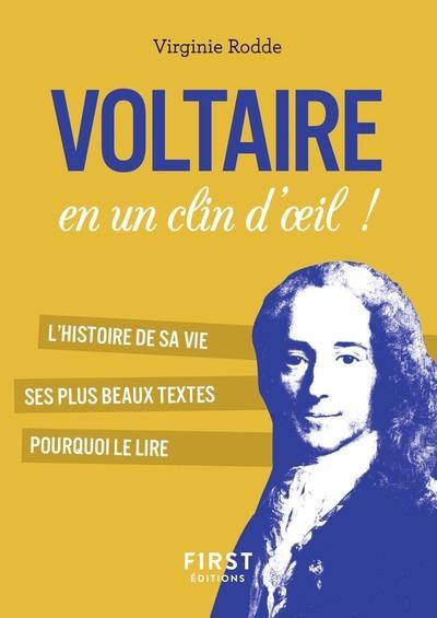 PETIT LIVRE DE - VOLTAIRE EN UN CLIN D'OEIL !