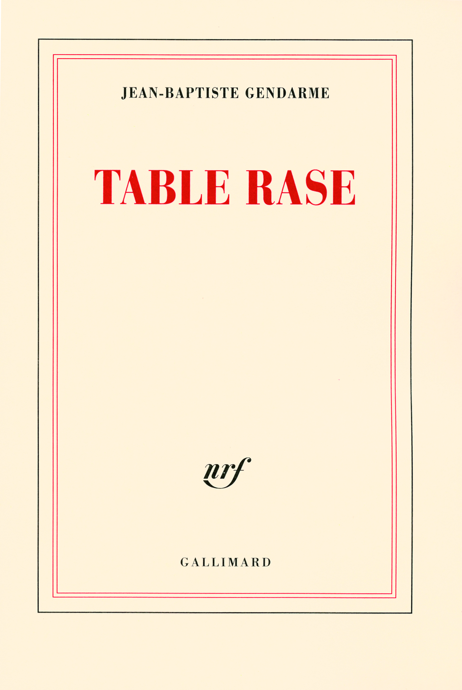 TABLE RASE ROMAN
