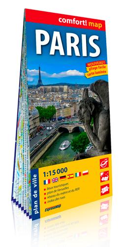 PARIS 1/15.000 (CARTE GRAND FORMAT, LAMINEE)