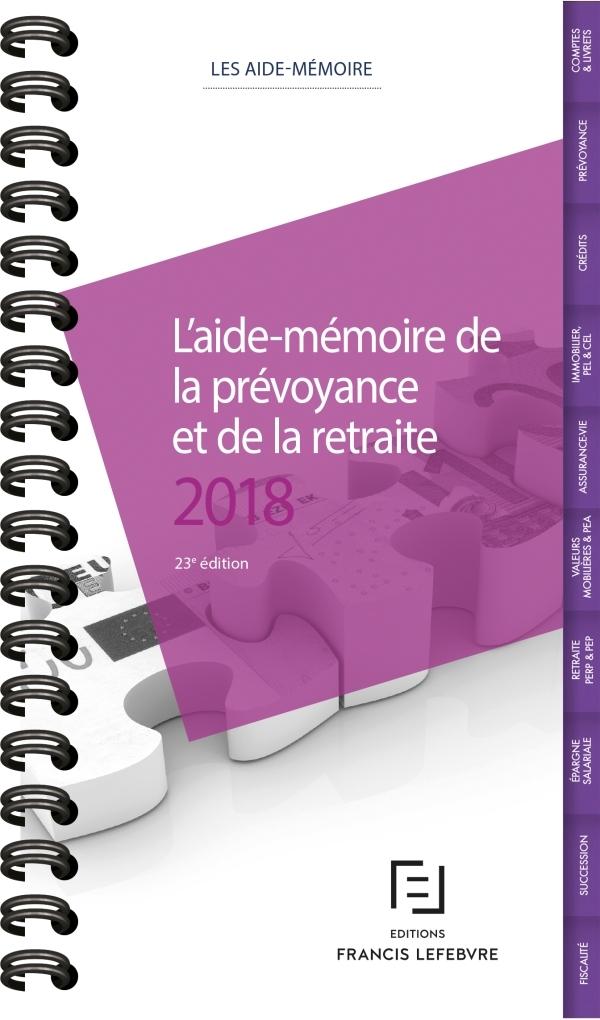 AIDE-MEMOIRE PREVOYANCE RETRAITE 2018