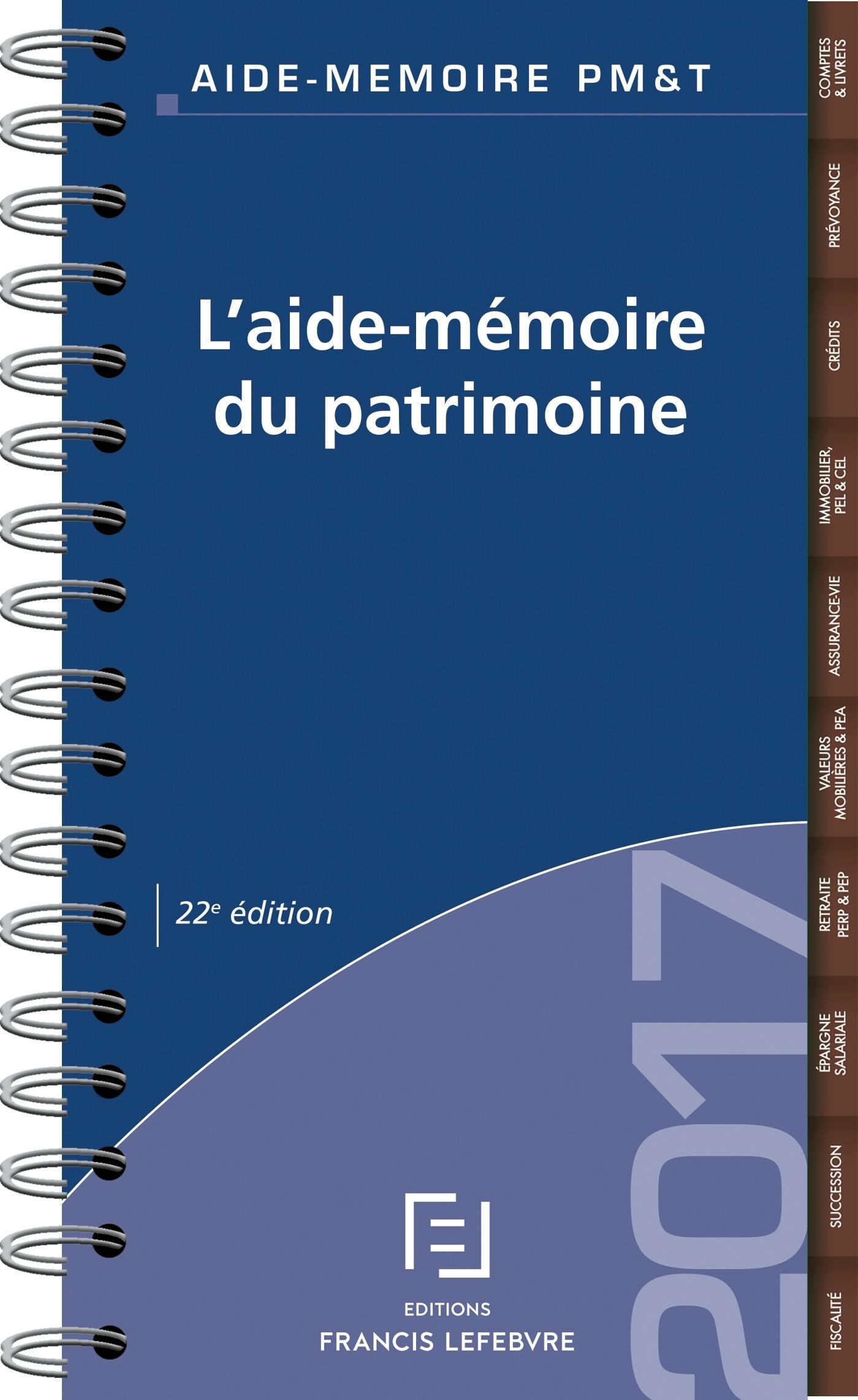 AIDE-MEMOIRE DU PATRIMOINE 2017