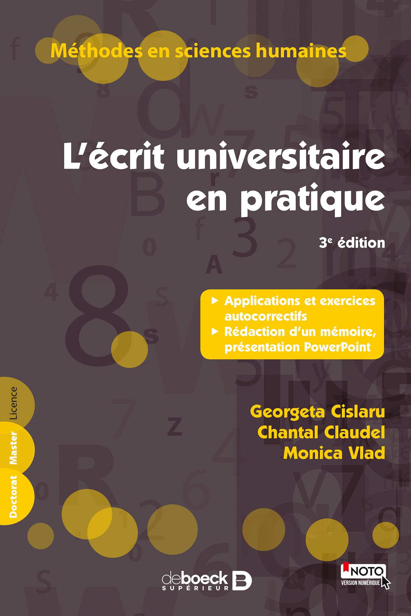 ECRIT UNIVERSITAIRE EN PRATIQUE (L') 3 EDITION