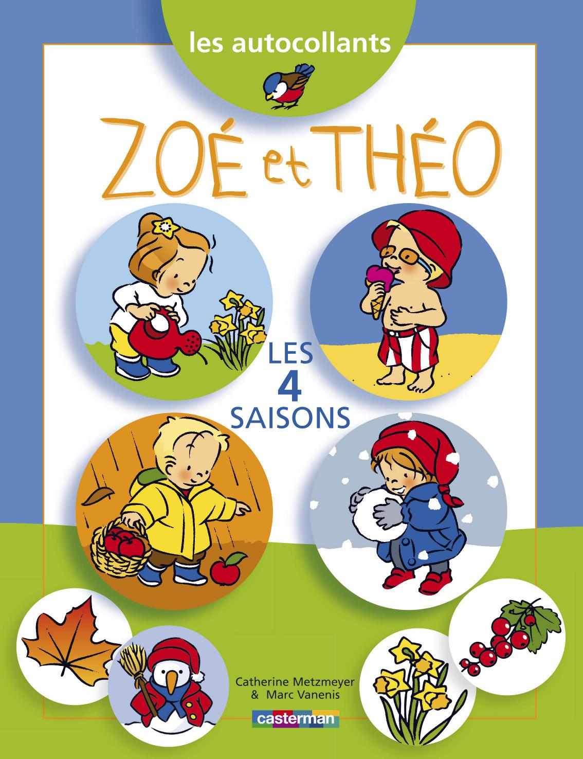 ZOE ET THEO AUTOCOLLANTS T14 LES 4 SAISONS