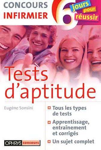 TESTS D'APTITUDE - CONCOURS INFIRMIER