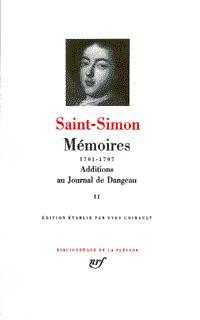 MEMOIRES / ADDITIONS AU JOURNAL DE DANGEAU T2