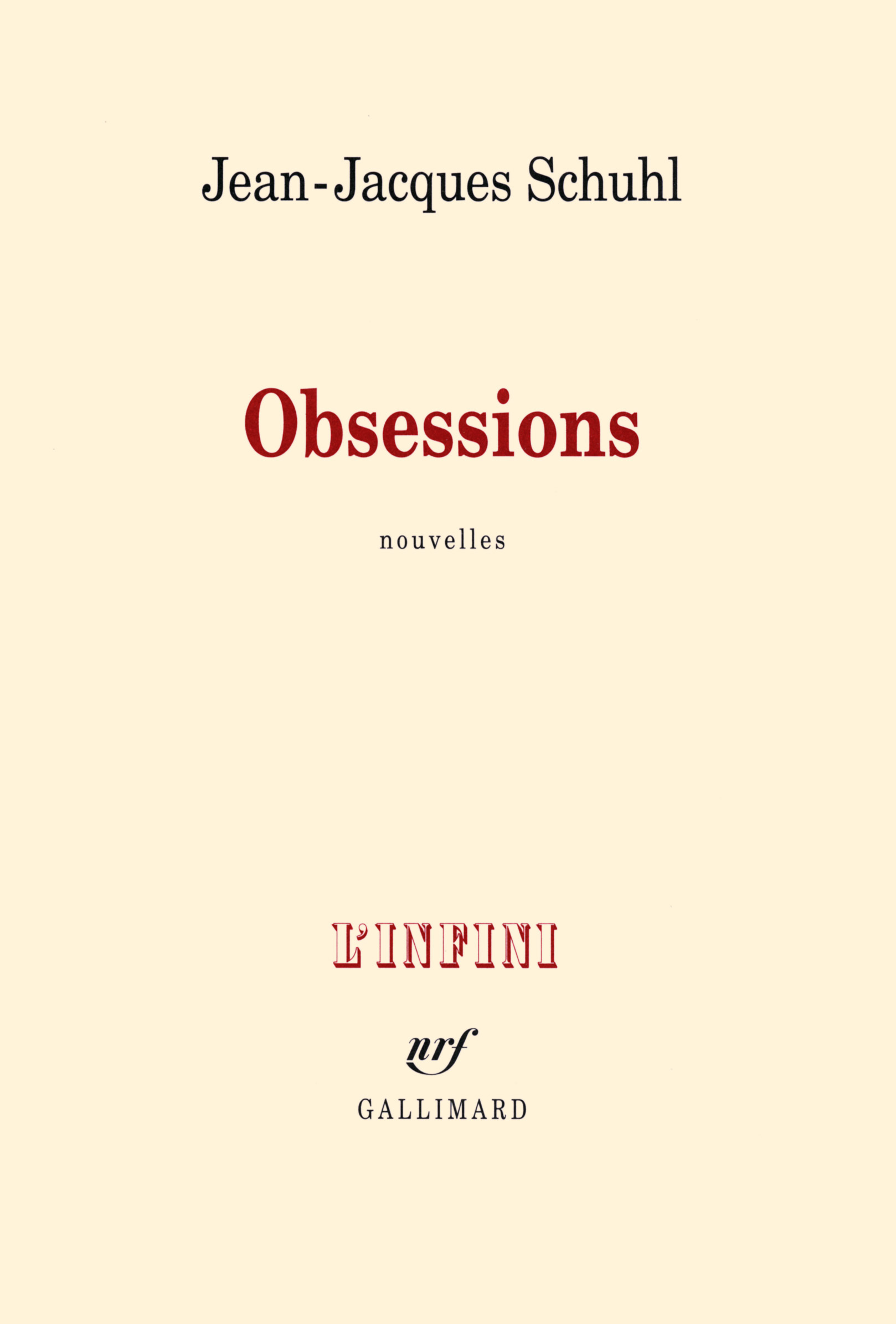 OBSESSIONS NOUVELLES