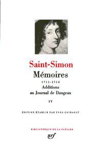 MEMOIRES / ADDITIONS AU JOURNAL DE DANGEAU T4