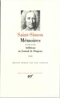 MEMOIRES / ADDITIONS AU JOURNAL DE DANGEAU T7