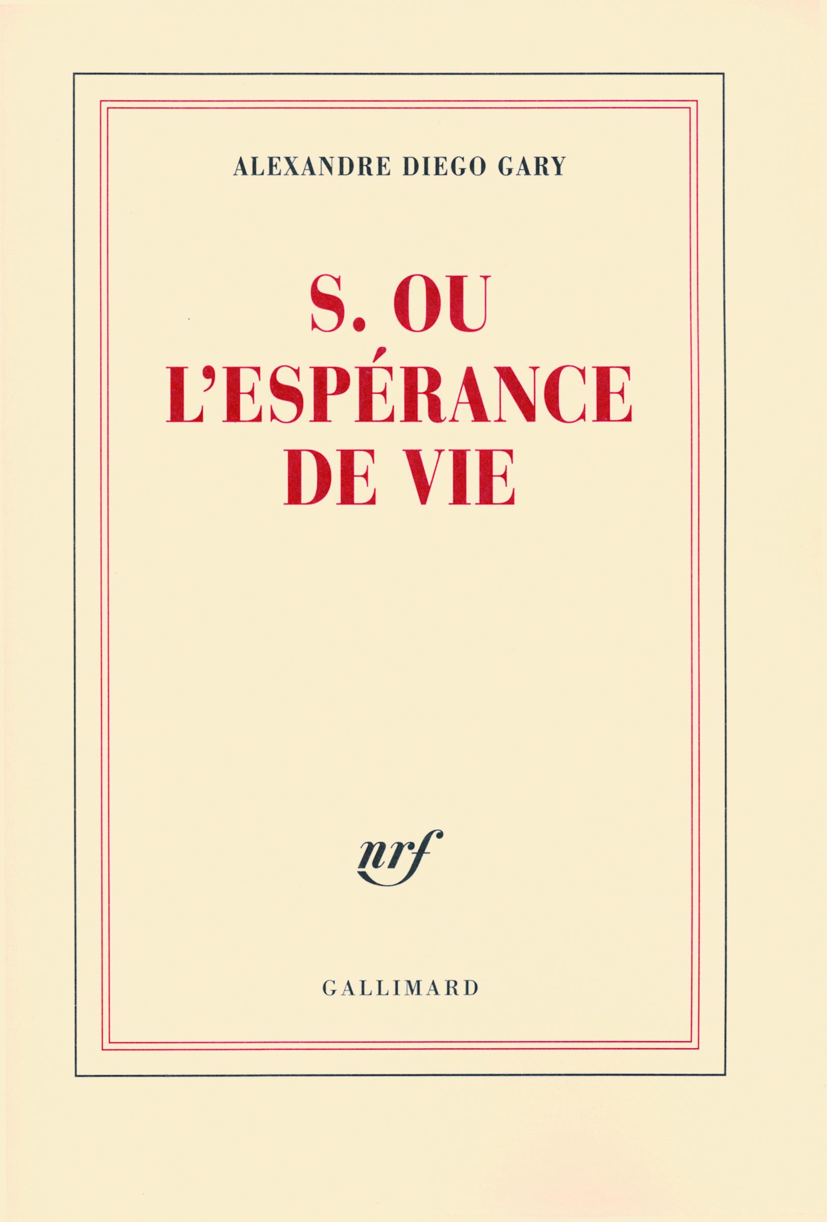 S. OU L'ESPERANCE DE VIE