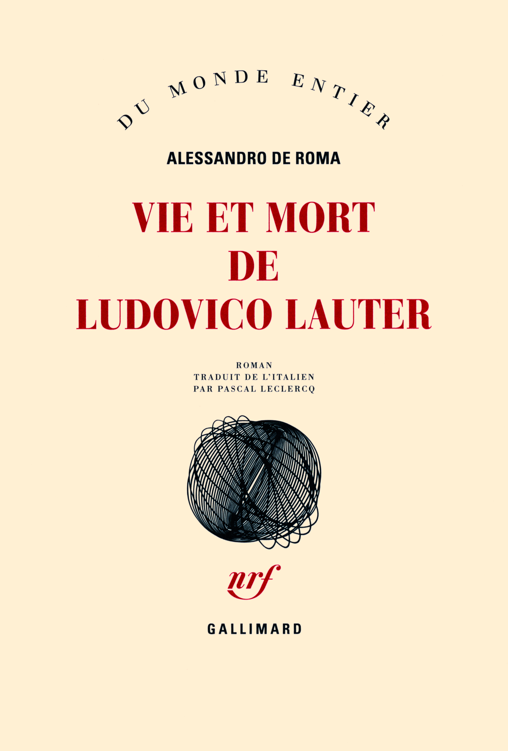 VIE ET MORT DE LUDOVICO LAUTER ROMAN
