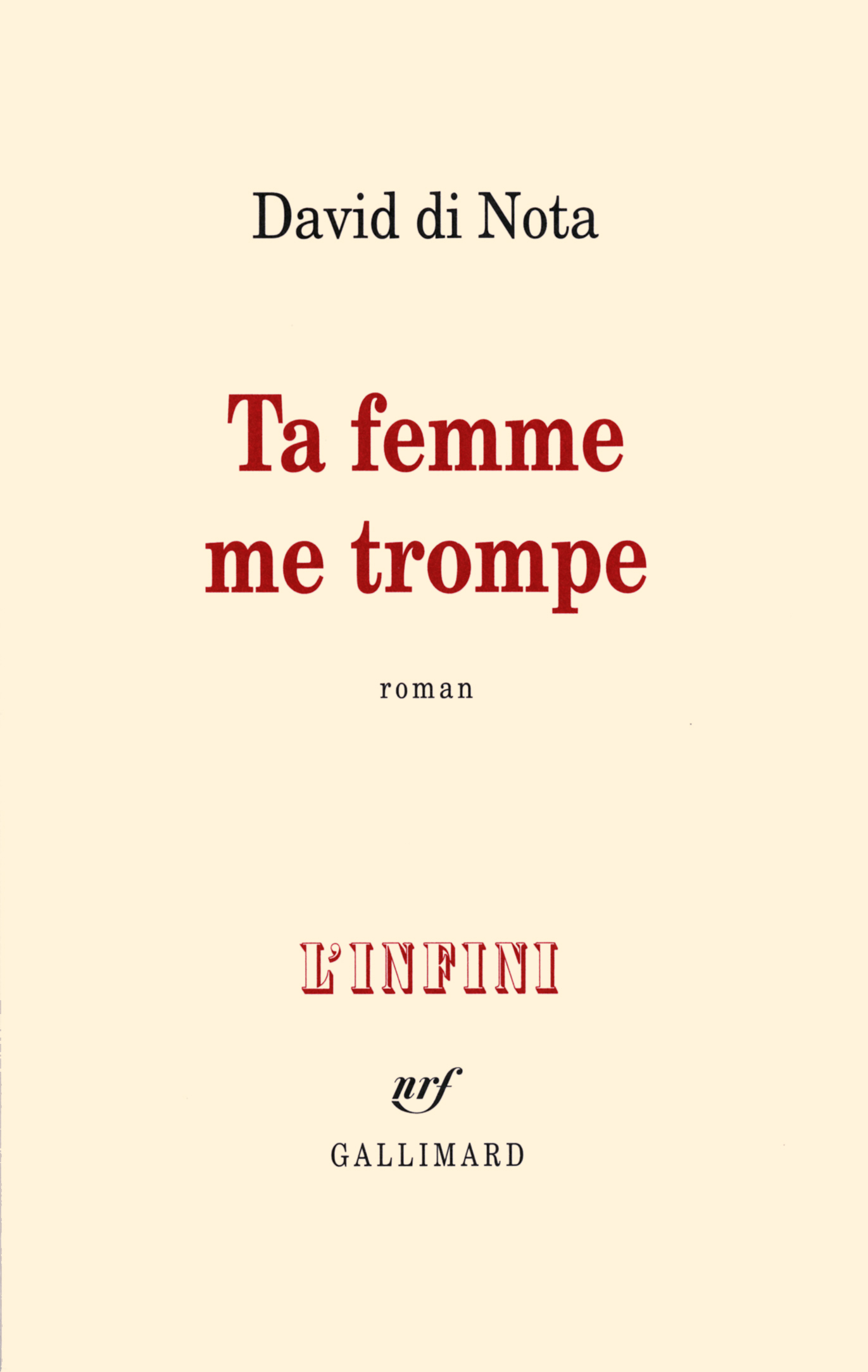 TA FEMME ME TROMPE ROMAN