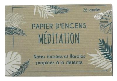 Carnet de Papier d'encens Méditation