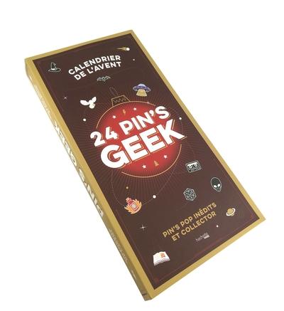 24 pin's geek : pin's pop inédits et collector : calendrier de l'Avent