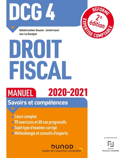 DCG 4, droit fiscal : manuel : 2020-2021