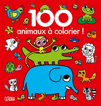 100 animaux à colorier !